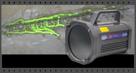 La torche à ultra violet est utilisé par IDS étanch'