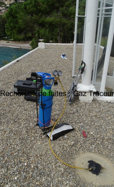 Recherche de perforation en surface avec Gaz Traceur : Villa E1027 Roquebrune Cap Martin