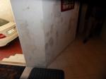 Remontés capillaires sur un mur intérieur