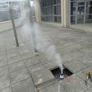 fumigène à Valbonne Mars 2015