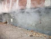 Recherche de fuite avec fumigène à St Raphael Juin 2016