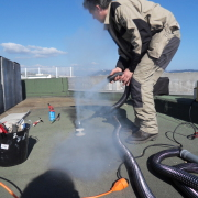 Recherche de fuite avec fumigène à Nice Mars 2014