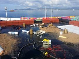 Test fumigène sur étanchéité neuve à Saint Raphael (juillet 2016)