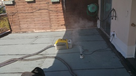 Test fumigène sur étanchéité neuve (saint Laurent du Var juillet 2016)