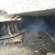fumigène à La Trinité  Mars 2014