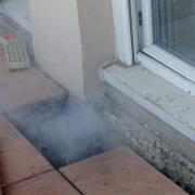 Recherche de fuite avec fumigène à Nice Fevrier 2016