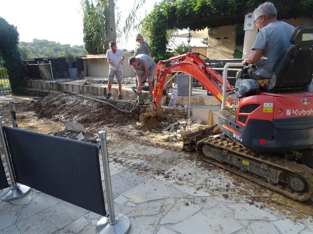 Localisation d'un reseau enterré fuyard a Saint Tropez
