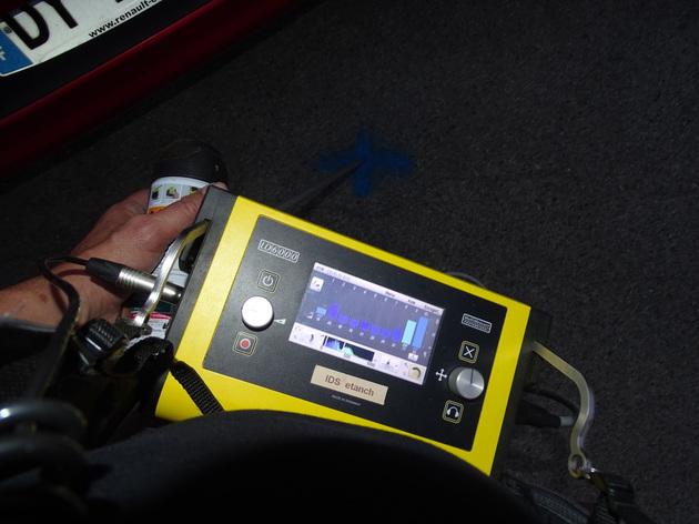 Electro acoustique : Visuallisation d'une fuite sur l'écran